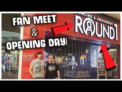 New Round 1 Arcade Opening Day & Fan Meet And Greet! ArcadeJackpotPro