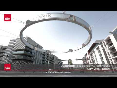 Luxurious 4 Bedroom Penthouse City Walk, Dubai