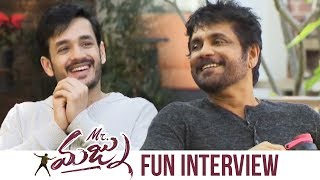 Akkineni Nagarjuna and Akhil Special Interview About Mr Majnu | Manastars