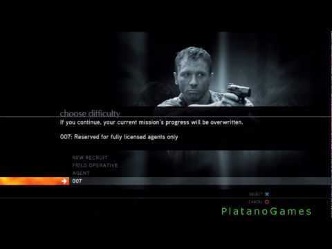007 Quantum of Solace - Main Menu Layout - HD