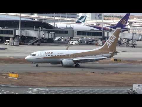 All Nippon Airways(Air Nippon) Boeing 737-700 Gold Jet 【KIX/RJBB】