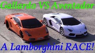 RC Cars Playtime! Lamborghini Aventador Versus Lamborghini Gallardo Racing Game!