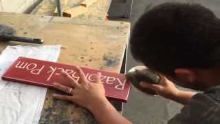 How We Make Our Spray Painted Custom Wood Signs