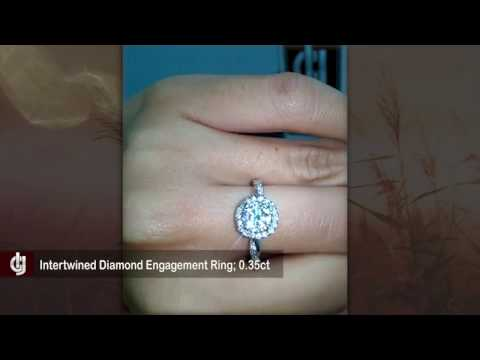 Inter-Continental Jewelers - Alexandra Halo & Intertwined Diamond Engagement Ring; 0.35ct