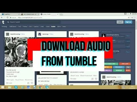HOW TO DOWNLOAD AUDIO FROM TUMBLR?