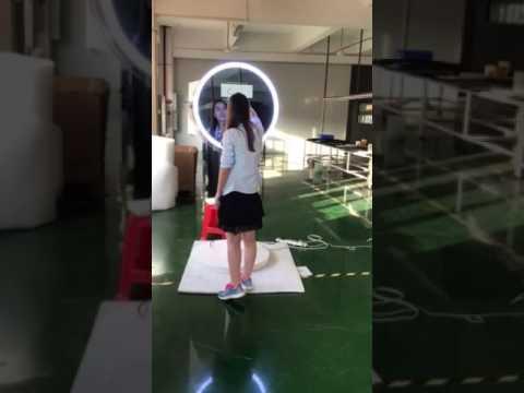 Round Ring Led Light Selfie Mirror Photobooth In White GTM