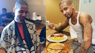 Juelz Santana gets a fresh cut & first home cooked breakfast since released from prison YouTube Videos