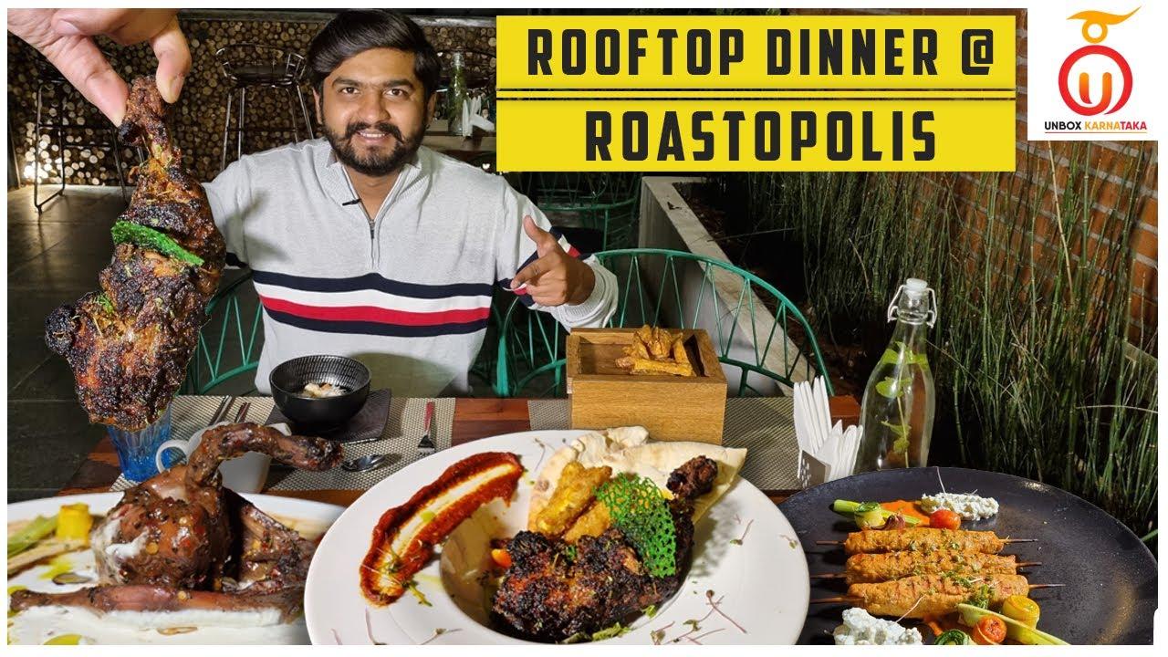 Open Air Rooftop Dining @ Roastopolis |  Posh Ambience | Kannada Food Review | Unbox Karnataka