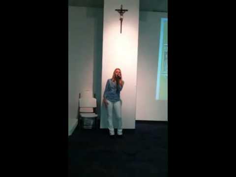 danielle bradbery singing jesus take the wheel in church