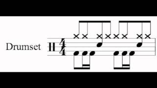 Basic drum notation.