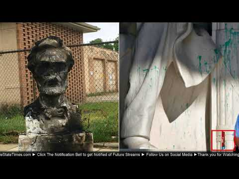 BREAKING: Abraham Lincoln monument torched in Chicago and Defaced in Washington DC by Leftist Scum