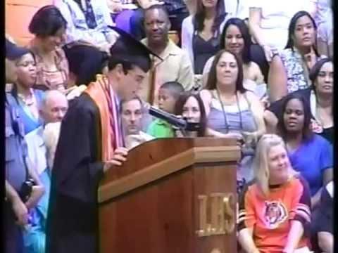 Angelo Monaco, Linden High School (New Jersey) Class of 2011 Valedictorian: Valedictory Address