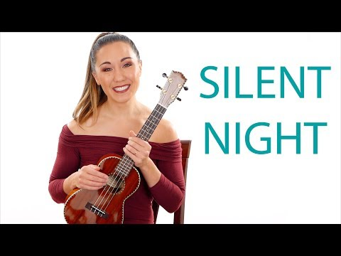 Silent Night Easy Ukulele Tutorial for Beginners with Play Along