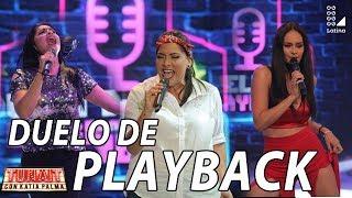 Katia Palma, Maricarmen Marín y Karen Schwarz en divertido duelo de playback