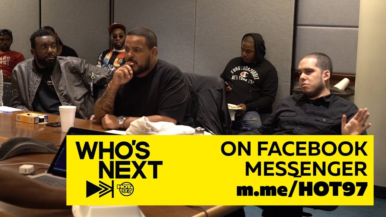 HOT 97's DJ Enuff's DJ meeting listening to new artists on WHO'S NEXT | UNCUT