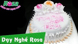 Bánh kem sinh nhật đơn giản với 3 tông màu