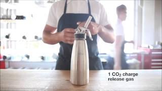 Молекулярная кухня : газированный коктейль из сельдерея