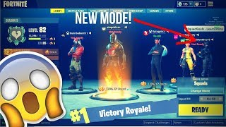 THE *NEW* LEAKED SEASON 4 MODE IN Fortnite: Battle Royale! (5 MAN SQUAD)