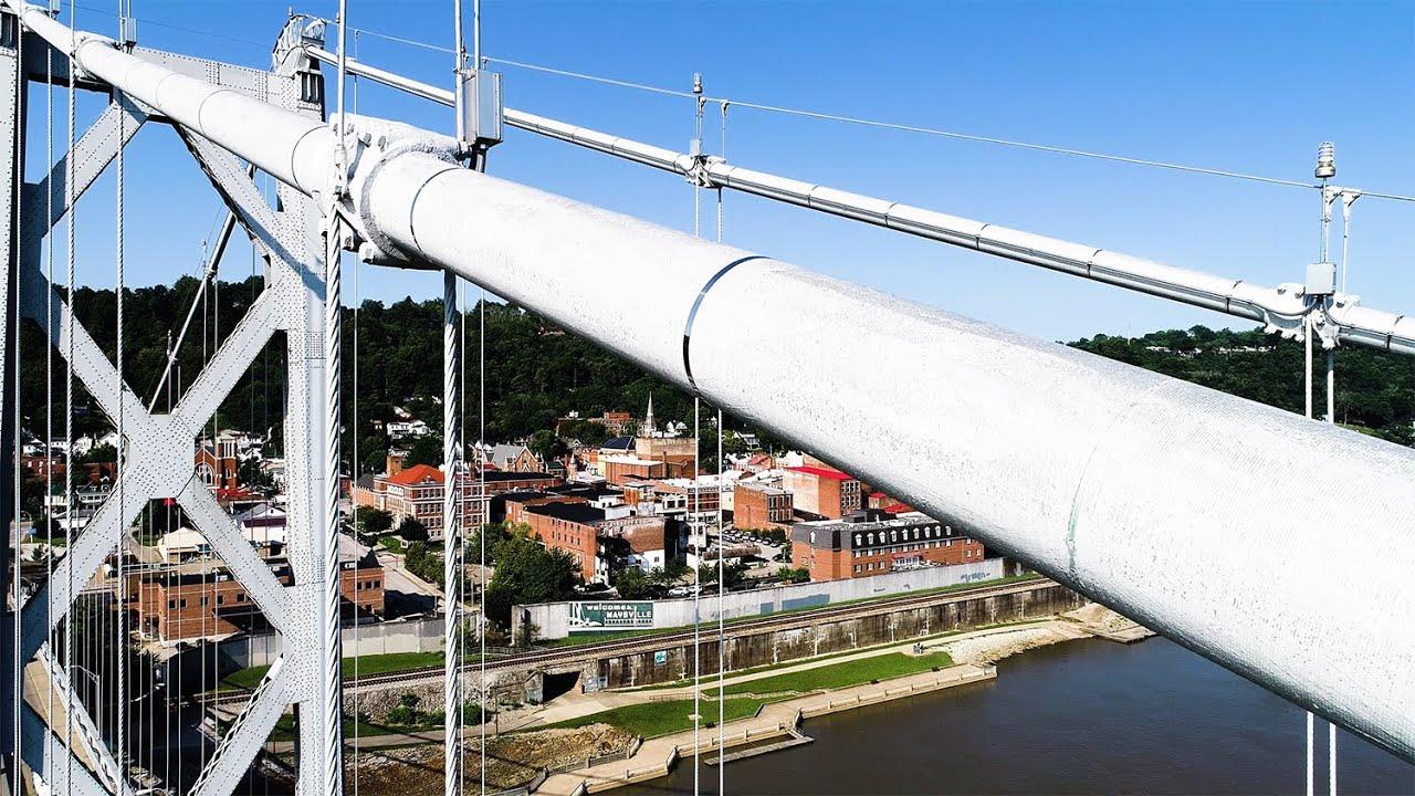 Simon Kenton Bridge Maysville Ky Bridge Inspection Youtube