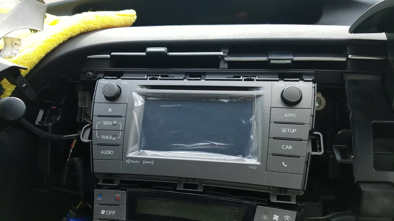 How to Remove Radio / Navigation / Touch Screen from Toyota Prius 2015 for  Repair