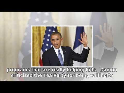 Matt damon slams republicans, tea party for handling of debt ceiling crisis (video)
