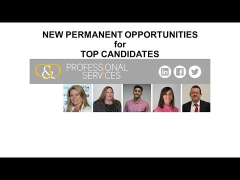 Permanent Job Vacancies for Professionals