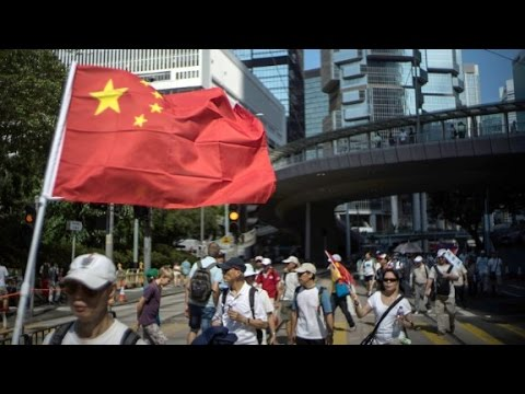 Pro-government protesters hold huge Hong Kong rally