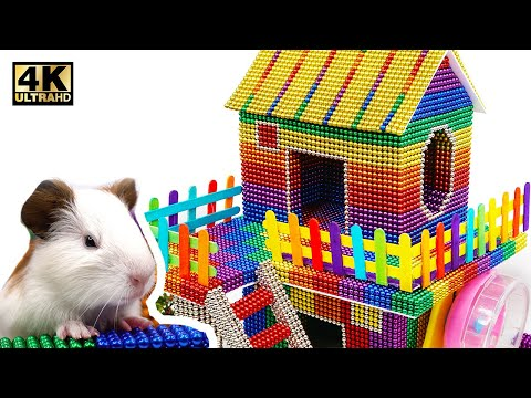 DIY - How To Build Beautiful Hamster House From Magnetic Balls ( Satisfying )   Magnet World 4K