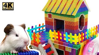 DIY - How To Build Beautiful Hamster House From Magnetic Balls ( Satisfying ) | Magnet World 4K