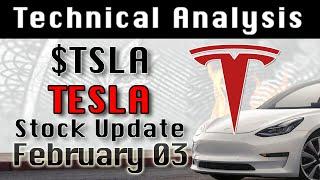 TESLA : TSLA Feb-3 Update StockMarket Technical Analysis Chart