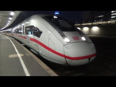 Trains-Züge mit ICE 4 am Hauptbahnhof Hannover - ICE 4 at Hanover Main Station -