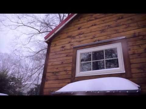 Tiny House in a Blizzard - Snowmeggedon 2016