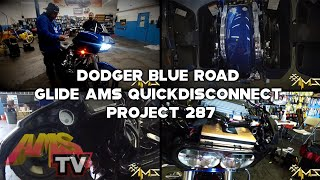 Dodger Blue Road Glide AMS Quickdisconnect Project 287