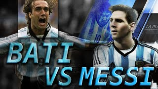 TOP 10 GOLES MESSI VS BATISTUTA Seleccion Argentina || TOP 10 GOALS