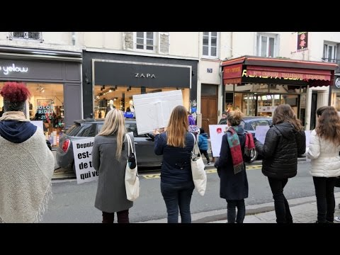 Manif Anti Fourrure Zapa - Paris 26 novembre 2016