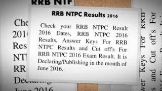 Check RRB Result NTPC Result 2016 Cut Off Marks 2017 Video
