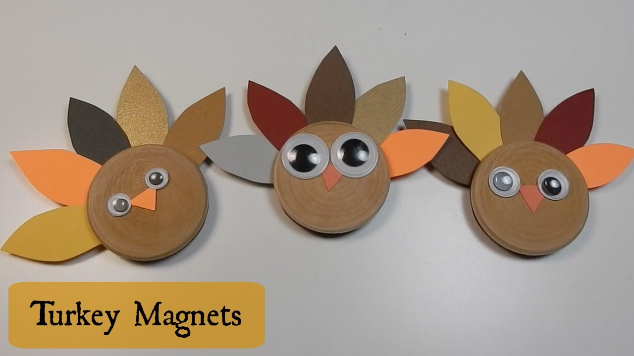 Turkey Craft For Kids Cute Magnets Youtube