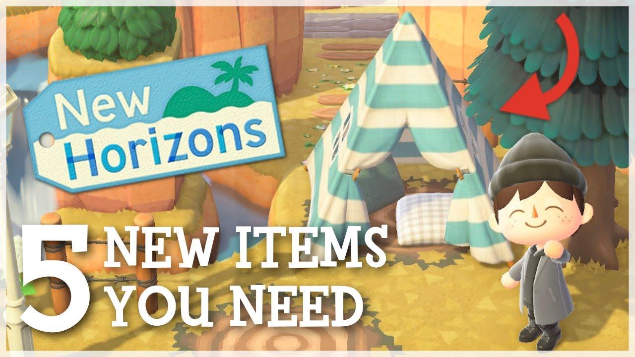 Animal Crossing New Horizons - 5 Amazing New Items You NEED!
