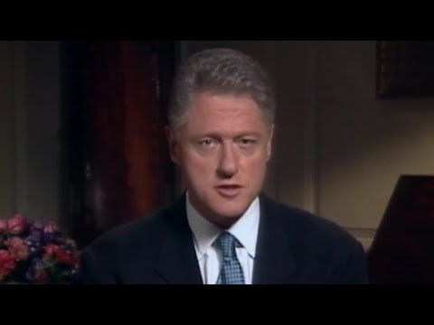When Clinton admitted to the Lewinsky affair