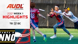 Tampa Bay Cannons at DC Breeze   Week 1   Game Highlights