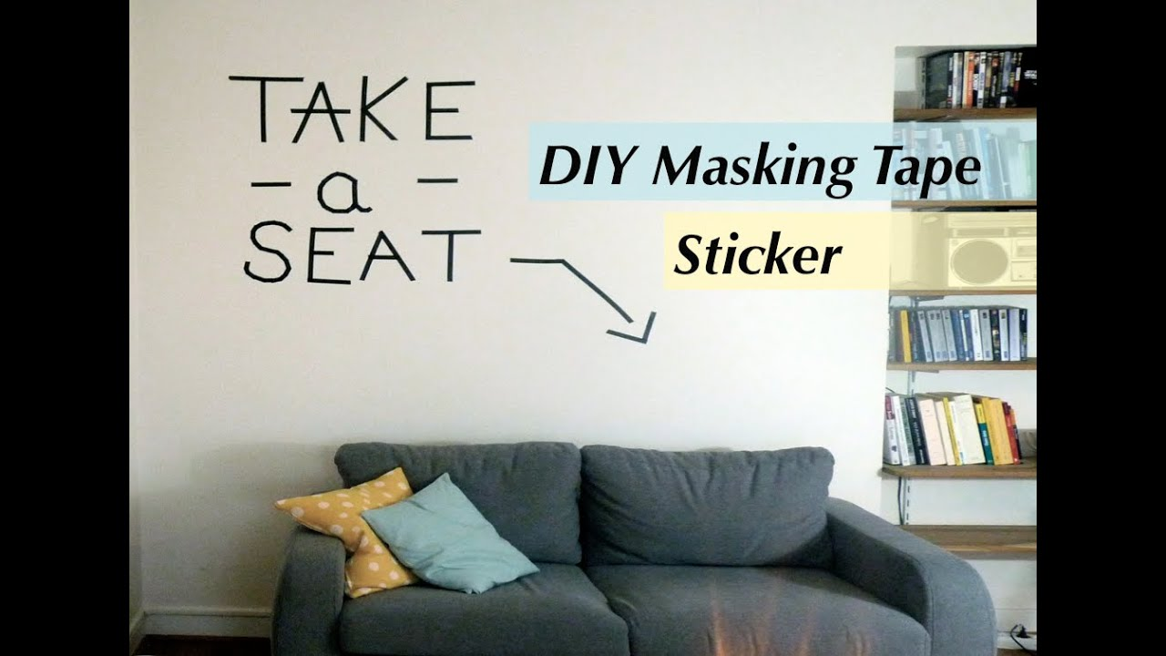 diy masking tape id es pour d corer ses murs youtube. Black Bedroom Furniture Sets. Home Design Ideas