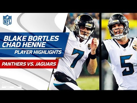 Every Blake Bortles & Chad Henne Throw | Panthers vs. Jaguars | Preseason Wk 3 Highlights