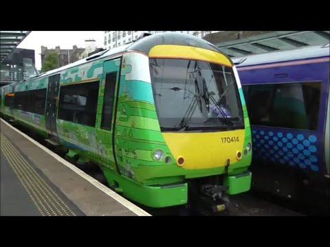 Trains at Edinburgh Haymarket   15/05/15