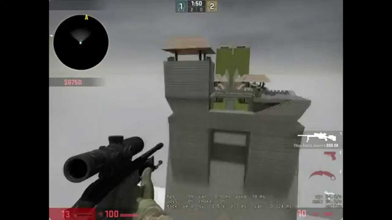 Counter-Strike WORLD RECORD: Highest jump scout/Airtime ever.
