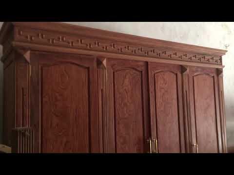 Báo giá tủ áo gỗ hương đá chọn vân 3 buồng 4 cánh
