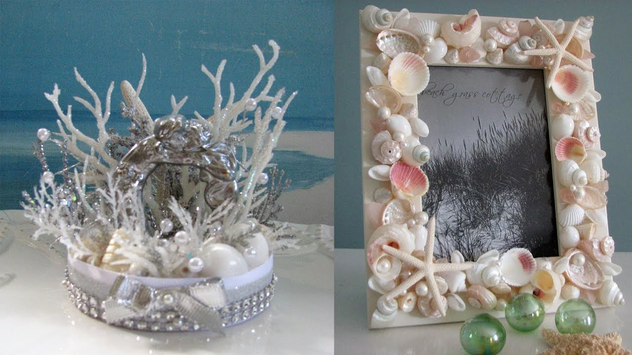 Decorative Seashell Craft Ideas Youtube