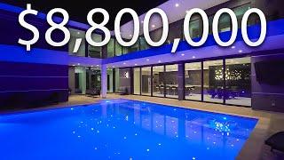 داخل قصر استوائي حديث بقيمة 8،800،000 دولار مع بركة KOI خاصة | جولة القصر