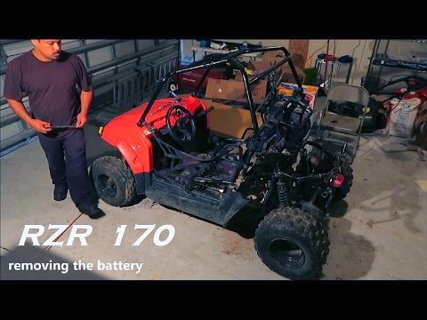 polaris rzr 170 removing rear plastic body panels youtube Polaris RZR 6 Inch Lift