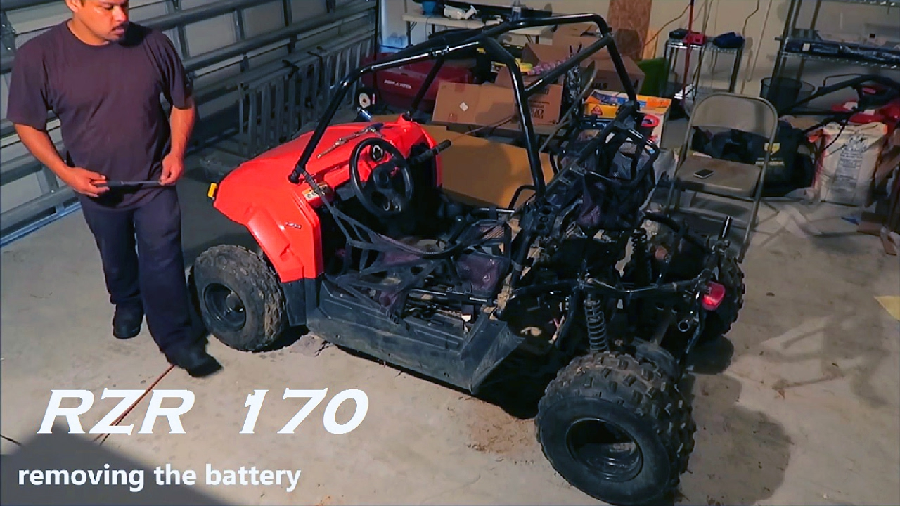 polaris rzr 170 | removing rear plastic body panels