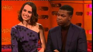 STAR WARS The Force awakens - Daisy Ridley and John Boyega interview thumbnail